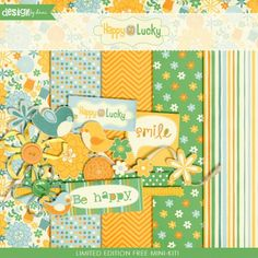 **Limited Edition Free Mini Kit!**    It's your lucky day! Snatch up this sweet mini kit full of fresh and vibrant colors for free for a limited time!    Includes: 5 Patterned Papers, 8 Different Flower Stickers, 3 Illustrated Birds, 2 Ribbons, Curled Ribbon, 2 Ribbon Flowers, 3 Tags (Plus Blanks).