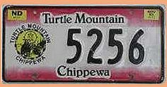 US Nummernschild North Dakota - Turtle Mountain - Chippewa - original - Hausnummern und Schilder online kaufen