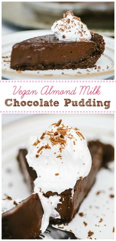 When we want something chocolatey, this super easy Vegan Chocolate Pudding is quick and satisfying beyond belief. Ready in 10 minutes and uses almond milk! Vegan Pudding, Pudding Desserts, Vegan Desserts, Easy Desserts, Paleo Dessert, Vegan Sweets, Vegan Dishes, Sweet Desserts, Vegan Food