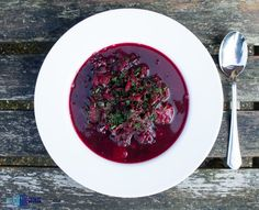 Beetroot leaves soup with carrot and potatoes.