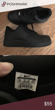 5b2b3db63a4e Women s All Black Nike Air Force 1 Low Very rare sneakers. Never been worn.