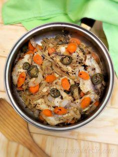 Poached Tilapia en Escabeche #SundaySupper via lacocinadeleslie.com