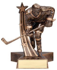 "Male Hockey Trophy - 8.5"" Super Star Resin"
