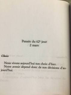 Choix du futur Words Quotes, Life Quotes, Sayings, Fb Quote, French Quotes, Some Words, Positive Attitude, Sentences, Decir No