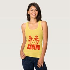 Two checkered racing flags for the competition win tank top - click/tap to personalize and buy. t shirts come in 158 styles and colors for men women boys and girls. !#checkeredflag #competitionwinner #carracing #dragracing