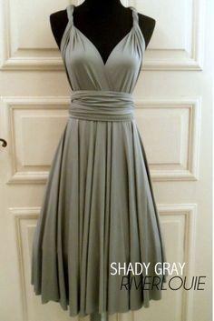 GRAY Convertible Multiway Bridesmaids Wedding by RiverLouie, $35.00 @Julie Green