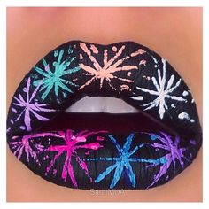 20 Wildly Gorgeous and Creative Lip Art Designs ❤ liked on Polyvore featuring beauty products, skincare, lip care, lip treatments and lips