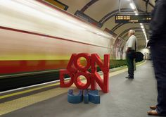 3D Type / Photography by Marcus Byrne, via Behance