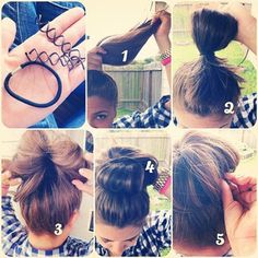 Spin-Pin and Hair Tie Ballerina Bun Spin Pin, My Hairstyle, Pretty Hairstyles, Bun Hairstyles, Chignon Bun, Corte Y Color, Tips Belleza, About Hair, Hair Dos
