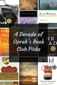 A Decade of Oprah's Book Club Picks. How many have you read?