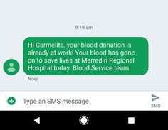 It's nice to know my blood is helping people. - http://ift.tt/1HQJd81