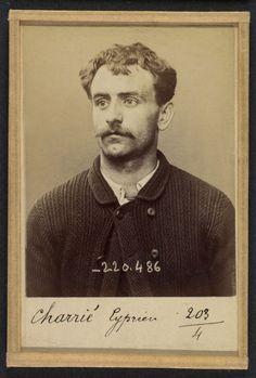 Alphonse Bertillon (French, 1853 - 1914) 'CharriŽ. Cyprien. 26 ans, nŽ le…