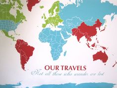framed push pin map 20x24 inches world travel honeymoon