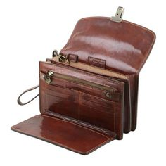 wrist bag for men - leather man bag - Arthur - Men's style, accessories, mens fashion trends 2020 Leather Card Wallet, Leather Briefcase, Must Have Travel Accessories, Cute Outfits For Kids, Bags For Men, Man Bags, Leather Design, Long Wallet, Leather Working
