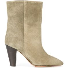 Isabel Marant Étoile Étoile Darilay suede boots (27,630 PHP) ❤ liked on Polyvore featuring shoes, boots, green, green boots, bohemian boots, slip on boots, slipon boots and green suede boots