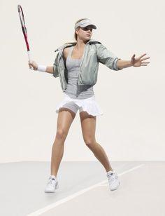 Maria Kirilenko presents adidas by Stella McCartney ss07 Tennis Collection