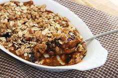 breakfast cobbler pumpkin blueberry