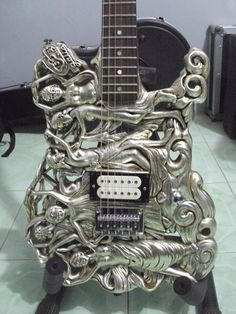 Guitar Carving Seven Angel Series by Semarang-based Etsy shop GuitarCarving, $1,750.00 #guitars #gitar #music #musik #carved #angels #Indonesia
