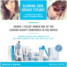I'm excited to announce that I have joined one of the leading premium skincare companies in the world, Rodan+Fields! I started out a customer and fell in LOVE with the products, so I am now a consultant. My skin is still a work in progress, but I couldn't be happier with my results so far. This brand has been featured in Oprah Magazine, Allure, People Style Watch, the Today Show and more. Please message me if you're interested in learning more - can't wait to share it!