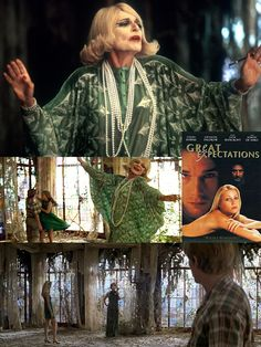 Great Expectations (1998) starring Ethan Hawke, Gwyneth Paltrow, Anne Bancroft & Robert DeNiro was filmed partially in and around Sarasota. Ms. Dinsmoor (the renamed Miss Havisham from the novel) is played by Bancroft. Ringling's Ca' d'Zan was transformed into her decaying mansion.