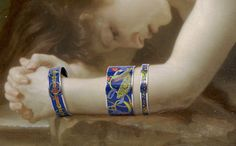 Enamel and oil on canvas    Biblis  W. A. Bouguereau, 1884  Enamel bracelets, Concours d'étriers  hermes.com
