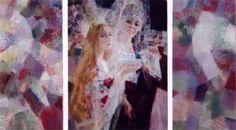 """Georgy Shishkin / En defaisant la natte, By unplaiting the plait (Из серии """"Русские сны"""") Plait, Painting, Painting Art, Paintings, Painted Canvas, Drawings"""