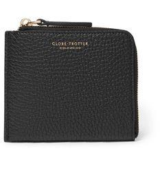 Globe-Trotter Propellor Pebble-Grain Leather Zip-Around Wallet