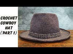 Easy crochet: How to crochet Cowboy Hat Part 1 (ENG sub). Nami Do - Easy Crochet : . Easy crochet: How to crochet Cowboy Hat Part 1 (ENG sub) Bạn có thể mua sợi dệt kim tuyến ở đây (Material is here): . Crochet Cowboy Hats, Crochet Summer Hats, Crochet For Boys, Crochet Baby Hats, Easy Crochet, Sombrero A Crochet, Crochet Mittens, Crochet Videos, Crochet Hat Patterns