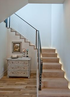 the choice of the type of the staircase and modern staircase design. Latest modern stairs designs and staircase ideas for two story homes and living room with stair railing catalogue 2019 Railing Design, Staircase Design, Staircase Ideas, Staircase Remodel, Stair Design, Railing Ideas, Wood Stairs, Stair Railing, Stair Treds