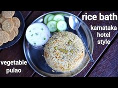 rice bath recipe, karnataka style vegetable rice bath, rice bhath with step by step photo/video. unique way of making flavoured & tasty rice pulao recipe. Vegetable Pulao Recipe, Vegetable Rice, Vegetable Drinks, Bath Recipes, Rice Recipes, Vegetarian Recipes, Pizza Recipes, Snacks Recipes, Chilli Recipes