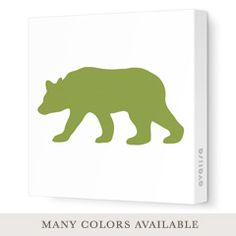 Bear Silhouette Stretched Wall Art MUST HAVE