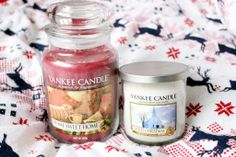 Yankee Candles Home Sweet Home and White Christmas - buy them now at www.scentedcandleshop.com! <3 #yankeecandles #yankeecandle #yankeearmy #scentedcandles #christmasgifts #stockingfiller