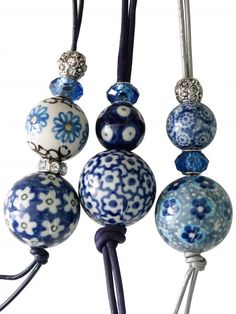 Cool idea for necklaces! Polish pottery