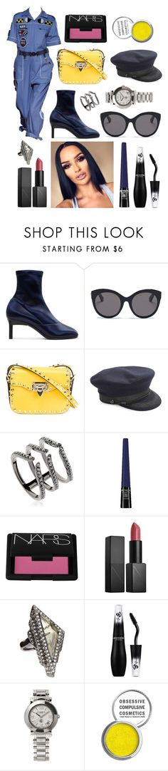 """""""Untitled #1341"""" by denisaalexandraa ❤ liked on Polyvore featuring 3.1 Phillip Lim, Gucci, Valentino, Saint James, Federica Tosi, Revlon, NARS Cosmetics, Alexis Bittar, Lancôme and Charriol"""