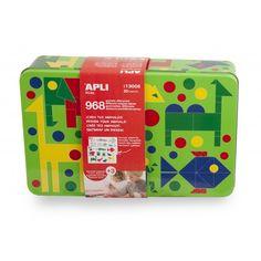 """Comprar Caja Metálica Gomets Juego """"Animales"""" Apli 13005 #materialescolar #escuela #hogar #casa #infantil #niños #manualidades #animales #formas #juegodegomets #automontables"""