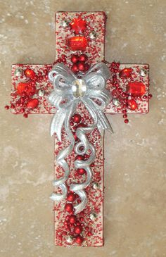 Jeweled Christmas Wall Cross