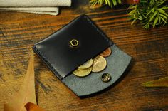 Coin pouch leather coin purse coin wallet by Manufacturabrand