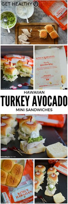 These Hawaiian turkey avocado mini sandwiches are a light and delicious appetizer. These healthy turkey sliders are the perfect finger food for game day parties or any get together. These little babies take just a few minutes to whip together and are perfect for a large group!