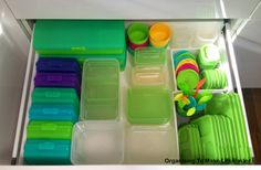 Organizing To Make Life Easier: Lunch Making Drawer for School Lunches