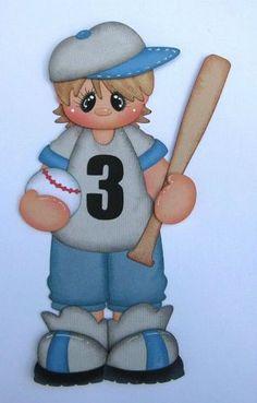 Baseball boy paper piecing