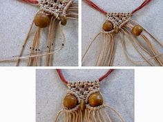 Most recent Snap Shots Macrame projects owl necklace Concepts Ecocrafta: Small owl macrame necklace Macrame Colar, Macrame Owl, Macrame Necklace, Micro Macrame, Macrame Jewelry, Owl Necklace, Wire Earrings, Owl Patterns, Macrame Patterns