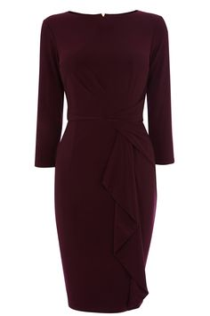 Coast Burgundy Curve Jersey Dress