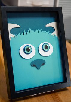 Sully Monsters Inc 8x11 handcut 3D paper craft by willpigg on Etsy