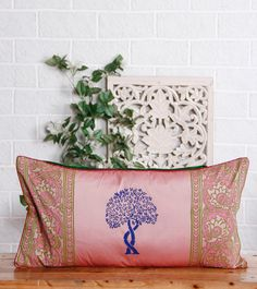 Pink Cotton Silk Cushion Cover Click on the photo to shop!