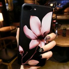 Lotus flower 3D Relief Silicone Case for iphone 6s 6splus Case Floral case For iphone 6 6plus 7 7plus