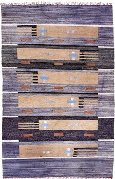 Finnish cotton rag rug. Textile Patterns, Textiles, Textile Art, Rya Rug, Rug Inspiration, Floor Cloth, Fabric Rug, Tapestry Weaving, Cool Rugs