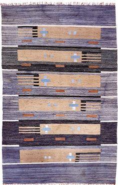 Finnish cotton rag rug.