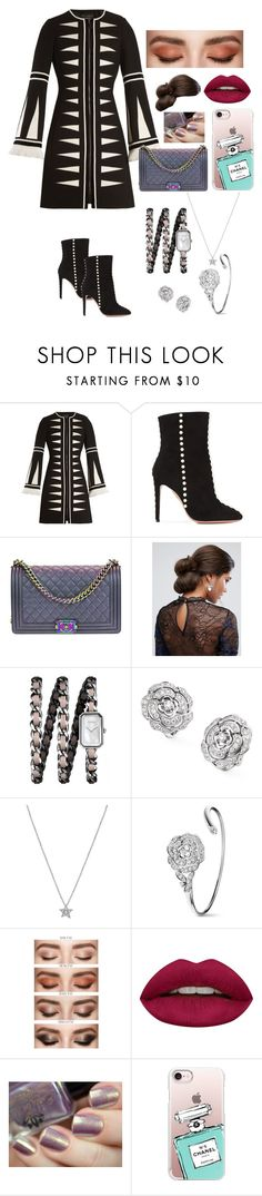 """BLACKPINK - JENNIE ""MAMA AWARDS 2017"""" by joeannamarii on Polyvore featuring Andrew Gn, Aquazzura, Chanel, ASOS, Huda Beauty and Casetify"