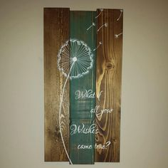 Beautiful hand painted wooden sign handcrafted by TinHatDesigns