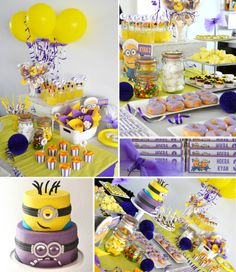 sweet table Minion / Despicable Me theme by mysweetdear.com